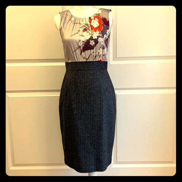 Elie Tahari Dresses & Skirts - Elite Tahari Dress— silk flower bodice/ wool skirt